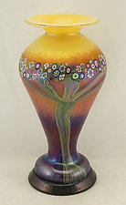 Mango Lady Vase by Ken Hanson and Ingrid Hanson (Art Glass Vase)