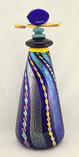 Cobalt Sentinel by Ken Hanson and Ingrid Hanson (Art Glass Bottle)
