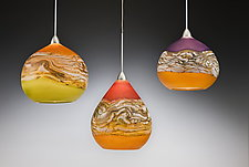 Strata Pendant Lights by Danielle Blade and Stephen Gartner (Art Glass Pendant Lamp)