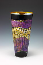 Amethyst Opal Cone by Danielle Blade and Stephen Gartner (Art Glass Vase)