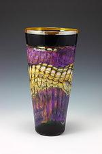 Amethyst Opal Cone by Danielle Blade and Stephen Gartner (Art Glass Vase)