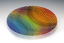 Prismatic Tapestry Bowl by Richard Parrish (Art Glass Bowl)