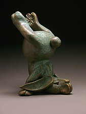 Headstand Bunny by Steve Murphy (Ceramic Sculpture)