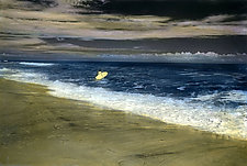Ocean Surf by Elizabeth Holmes (Infrared, Hand Painted Photograph)
