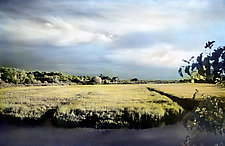 Beaver Creek Dam by Elizabeth Holmes (Infrared, Hand Painted Photograph)