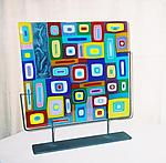 Collage with Drawings by Barbara Galazzo (Art Glass Sculpture)