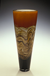 Strata Cone by Danielle Blade and Stephen Gartner (Art Glass Vase)