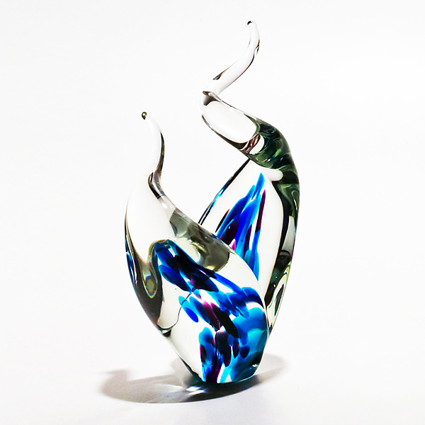 Glass Flames in Blues
