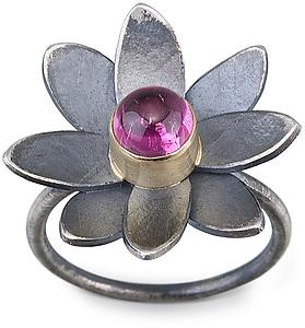 Flower Ring No. 7: Jamie Cassavoy: Gold, Silver, & Stone Ring - Artful Home