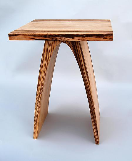 Small Arch Table - Zebrawood