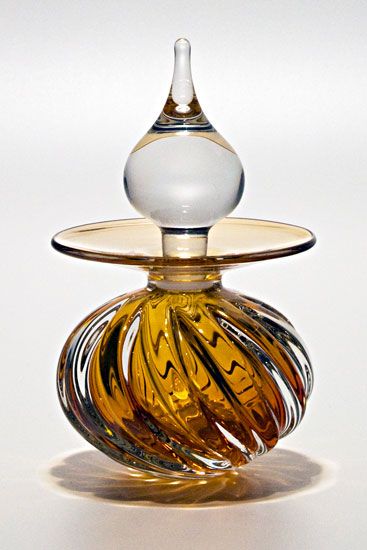 Twisted Square Rib Perfume Bottle: Sunshine