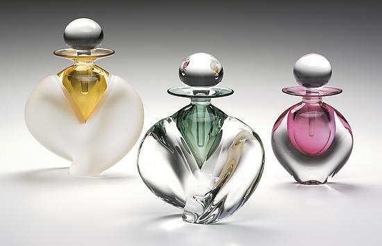 Winged and Flat Perfume Bottles