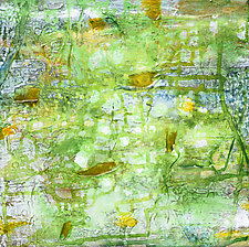 Green Strata by Stephen Yates (Acrylic Painting)