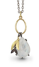 Moonstone Charm by Jamie Cassavoy (Gold, Silver & Stone Necklace)