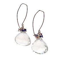 Party Quartz Earrings by Kathleen Lynagh (Silver, Stone & Pearl Earrings)