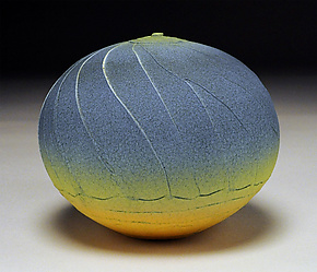 Blue Facet by Nicholas Bernard (Ceramic Vessel)