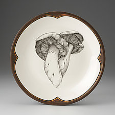 Milk Cap Mushroom Small Round Platter by Laura Zindel (Ceramic Platter)