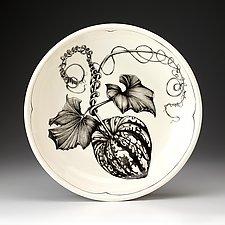 Carnival Squash Small Pasta Bowl by Laura Zindel (Ceramic Bowl)