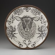 Large Round Platter: Suffolk Sheep by Laura Zindel (Ceramic Platter)