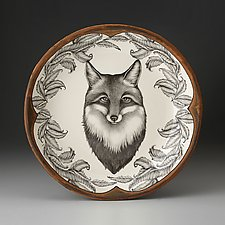 Small Round Platter: Fox Portrait by Laura Zindel (Ceramic Platter)