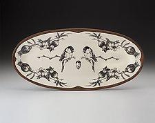 Chickadee Platter by Laura Zindel (Ceramic Platter)
