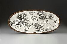 Clover Plant Platter by Laura Zindel (Ceramic Platter)