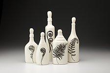 Bottle Set: Ferns by Laura Zindel (Ceramic Vessel)