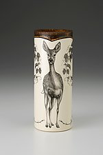 Large Vase: Fallow Doe by Laura Zindel (Ceramic Vase)