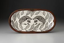 Rectangular Serving Dish: Hedgehog by Laura Zindel (Ceramic Serving Dish)