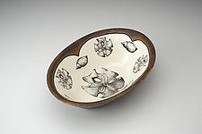 Large Serving Dish: Sand Dollar by Laura Zindel (Ceramic Platter)