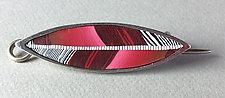 Songbird Shawl Pin by Bonnie Bishoff and J.M. Syron (Polymer Clay Brooch)