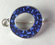 Circle Shawl Pin by Bonnie Bishoff and J.M. Syron (Polymer Clay Brooch)