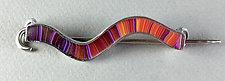 Wavy Shawl Pin by Bonnie Bishoff and J.M. Syron (Polymer Clay Brooch)