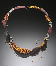 Bio Bop Necklace by Bonnie Bishoff and J.M. Syron (Polymer Clay Necklace)