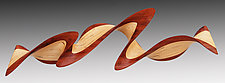 Bubinga Flash by Kerry Vesper (Wood Wall Sculpture)