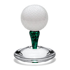 Golfer's Paperweight by Michael Trimpol and Monique LaJeunesse (Art Glass Paperweight)
