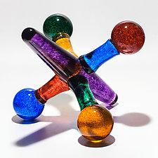Jumbo Jacks by Michael Trimpol and Monique LaJeunesse (Art Glass Sculpture)