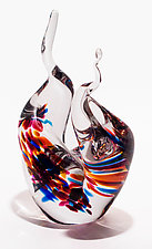 Glass Flames in Florida by Michael Trimpol and Monique LaJeunesse (Art Glass Sculpture)