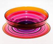 Five-Banded Bowl in Progressive Color by Michael Trimpol and Monique LaJeunesse (Art Glass Bowl)