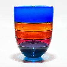 Color Block Vase in Boca by Michael Trimpol and Monique LaJeunesse (Art Glass Vase)