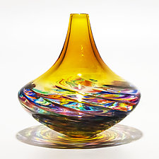 Optic Rib Morocco Vase by Michael Trimpol and Monique LaJeunesse (Art Glass Vase)