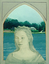 Lady Katharine Guarding the Lake by Mary Hatch (Oil Painting)