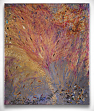 Tree Falls by Michael Solomon (Mixed-Media Painting)