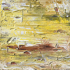 Yellow Strata by Stephen Yates (Acrylic Painting)