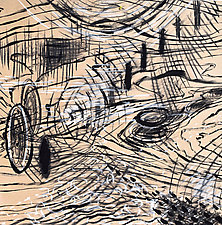 Scape II by Stephen Yates (Drawing on Wood)