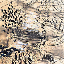 Scape III by Stephen Yates (Drawing on Wood)