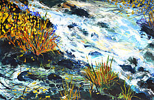 Mountain Stream by Stephen Yates (Acrylic Painting)