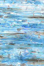 Strata in Blue and Gray by Stephen Yates (Acrylic Painting)