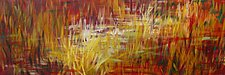 Salt Marsh Sunset III by Stephen Yates (Acrylic Painting)