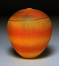 Bands of Red and Orange by Nicholas Bernard (Ceramic Vessel)